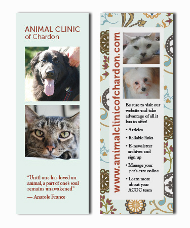 Bookmark Giveaway for Veterinary Clinic