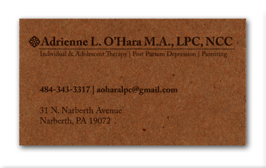 Business Card Design for Therapist
