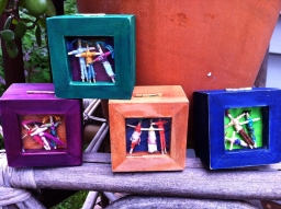 Custom boxes with handmade trouble dolls