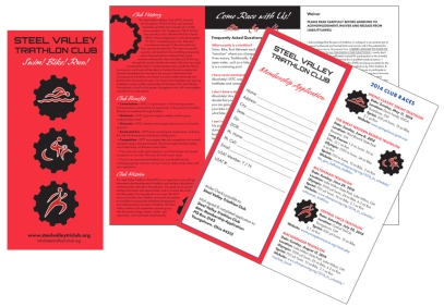 Brochure for Steel Valley Triathlon Club event