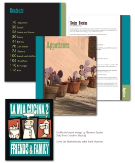 Cookbook Design (closeup)