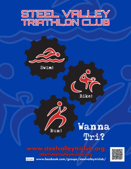 Poster design for Steel Valley Triathlon Club event